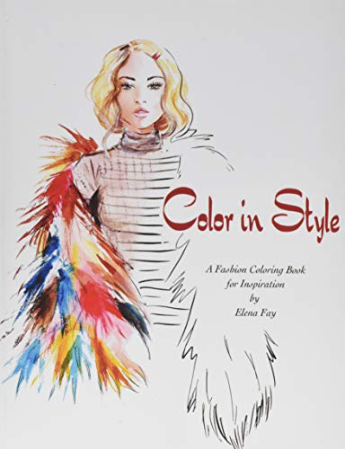 Color in Style: Fashion Coloring Book (Paperback)
