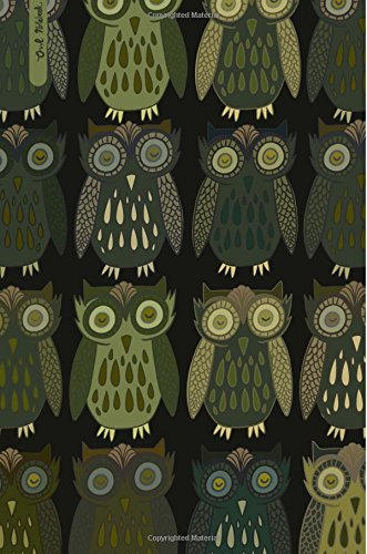 Owl Notebook: Vintage Inspired Owl 6x9 Lined: Notebooks, Pretty