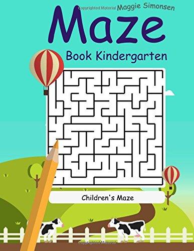 Maze Book Kindergarten: The Best Maze 2017