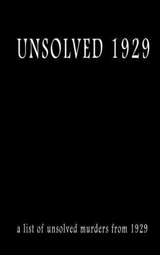Unsolved 1929 (Paperback): MR Pat Finn