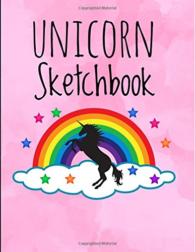 Unicorn Sketchbook: 8.5 X 11, Personalized Sketchbook, 100 Pages, Durable Soft Cover, Drawing Notebook