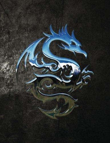 Chromium Dragon Blank Sketchbook (Fantasy 150 Blank-Sketch): Services, N.D. Author