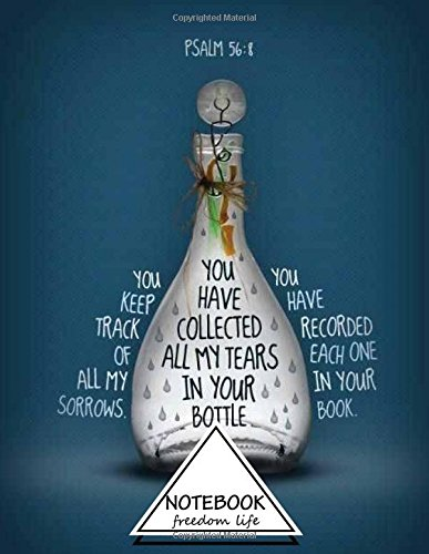 Notebook: Sketchbook: Psalm 56:8 You Keep Track: Freedom Life