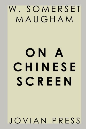 9781548163556: On a Chinese Screen (Jovian Press)