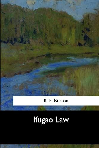 Ifugao Law: Burton, R. F.