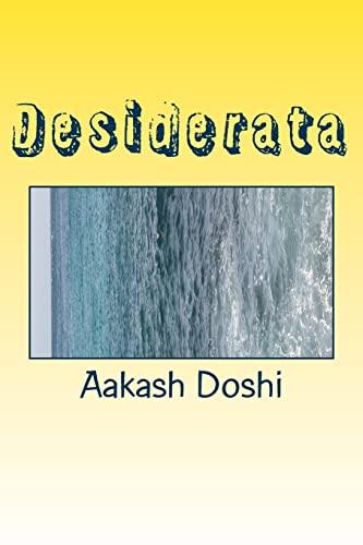 Desiderata: Doshi, Aakash