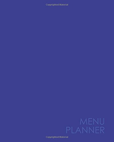 Menu Planner: Meal Planning Pad and Food: Publishing, Moito