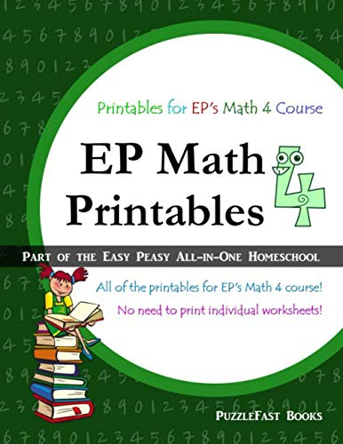 9781548869380: EP Math 4 Printables: Part of the Easy Peasy All-in-One Homeschool