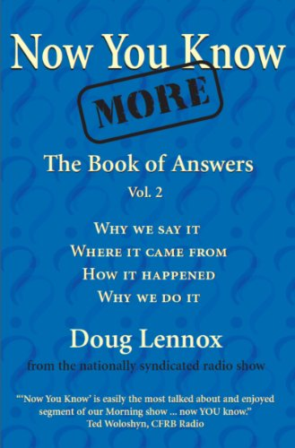 9781550025309: Now You Know More: The Book of Answers, Vol. 2
