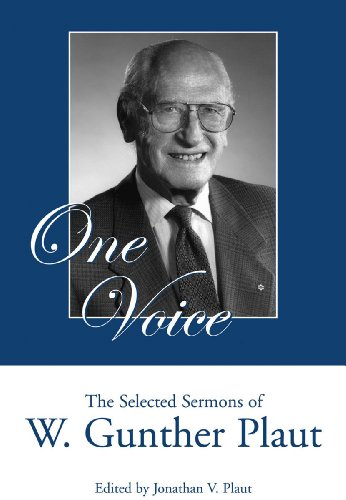 9781550027396: One Voice: The Selected Sermons of W. Gunther Plaut