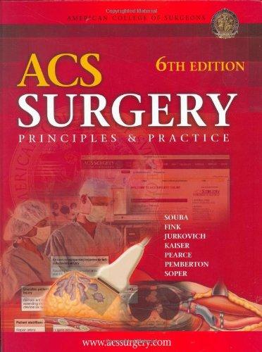 9781550093995: ACS Surgery: Principles and Practice (Acs Surgery)