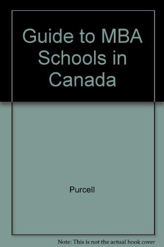 Guide to MBA Schools in Canada: Purcell