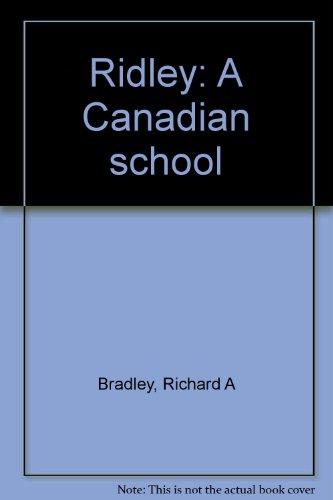 9781550463279: Ridley : A Canadian School
