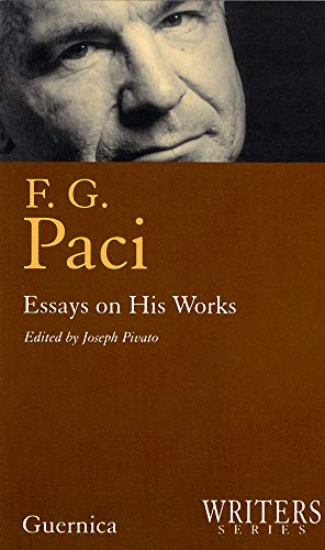 F.g. Paci (Writers Series 12)