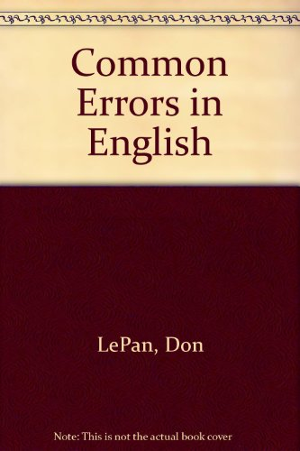 9781551112053: The Broadview Book of Common Errors in English: A Guide to Righting Wrongs