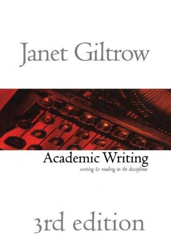 9781551113951: Academic Writing: Writing and Reading Across the Disciplines, 3rd Edition