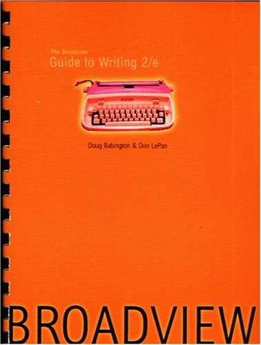 9781551114248: The Broadview Guide to Writing 2/e
