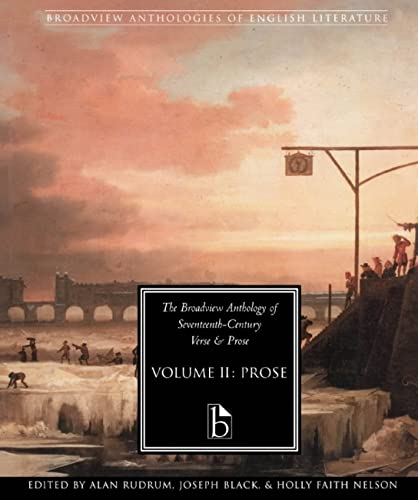 9781551114637: 2: The Broadview Anthology of Seventeenth-Century Prose