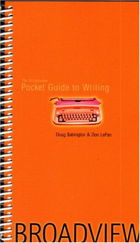 9781551115191: Broadview Pocket Guide to Writing
