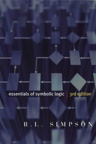 9781551118932: Essentials of Symbolic Logic