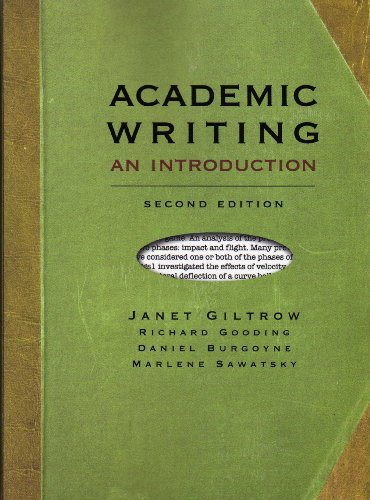 9781551119083: Academic Writing, second edition: An Introduction