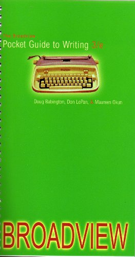 9781551119700: The Broadview Pocket Guide to Writing - Third Edition