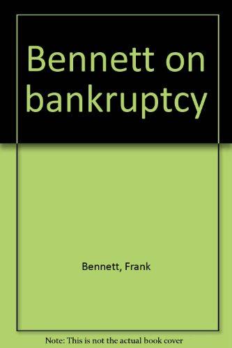 9781551419053: Bennett on bankruptcy