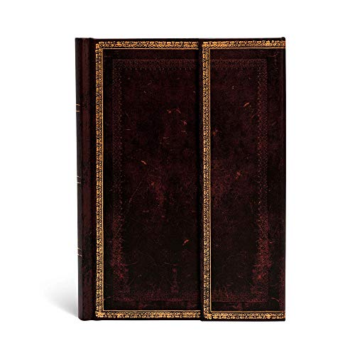 9781551568393: Black Moroccan Midi Lined Journal (Old Leather)