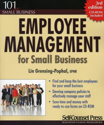 9781551808635: Employee Management for Small Business (101 for Small Business Series)