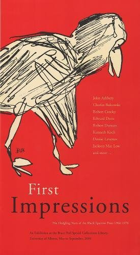 First Impressions: The Fledgling Years of the Black Sparrow Press 1966-1970 (Bruce Peel Special ...