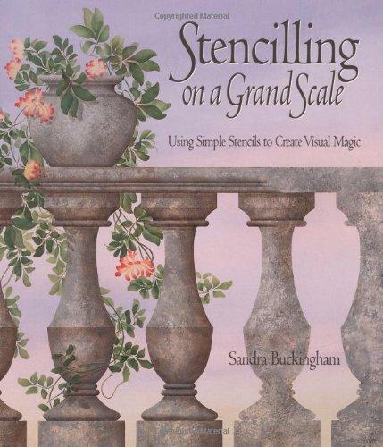 9781552094860: Stencilling on a Grand Scale: Using Simple Stencils to Create Visual Magic