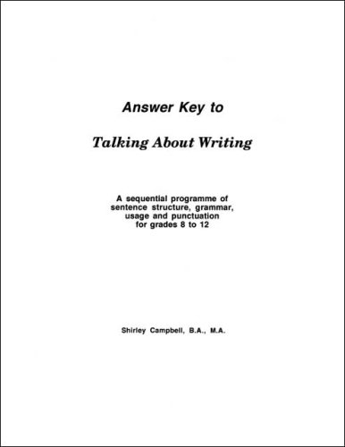 Talking About Writing: A Sequential Programme of Sentence Structure, Grammar, Punctuation and Usage...