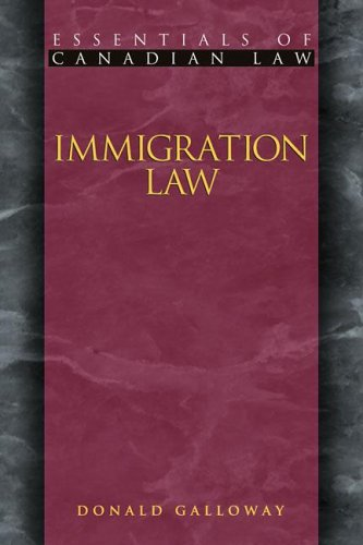 9781552210178: Immigration Law (Essentials of Canadian Law)