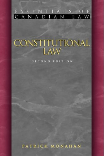 9781552210529: Constitutional Law (Essentials of Canadian Law)