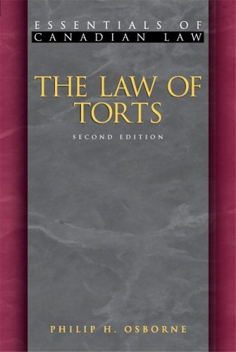 9781552210772: The Law of Torts (Essentials of Canadian Law)