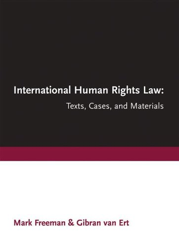 9781552211038: International Human Rights Law: Texts, Cases, and Materials
