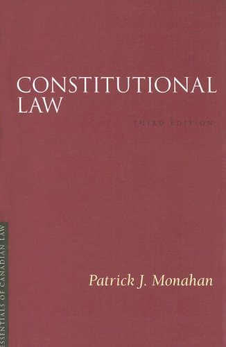 9781552211281: Constitutional Law (Essentials of Canadian Law)