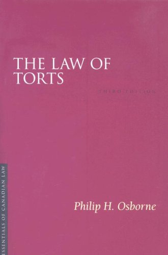 9781552211427: The Law of Torts (Essentials of Canadian Law)