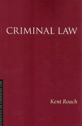 9781552211618: Criminal Law (Essentials of Canadian Law)