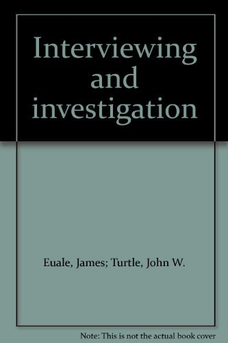 Interviewing and investigation: Euale, James; Turtle,