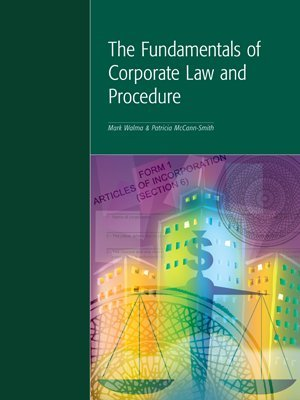9781552390740: The fundamentals of corporate law and procedure