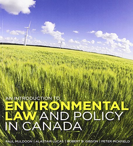 An Introduction to Environmental Law and Policy: Muldoon, Paul, Lucas,