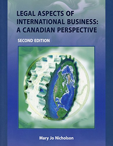 Legal Aspects of International Business: A Canadian