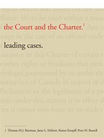 9781552392768: The Court and the Charter: Leading Cases