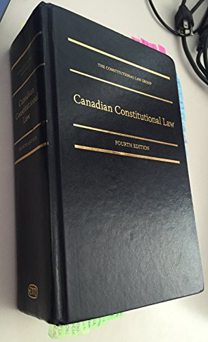 9781552393321: Canadian Constitutional Law, 4th Edition
