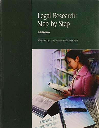 9781552393529: Legal Research: Step by Step