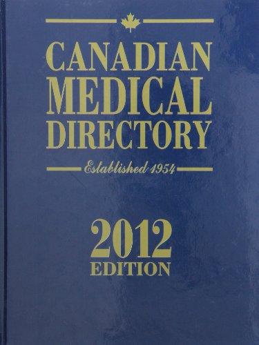 9781552572221: Canadian Medical Directory 2012 (Scott's Directories)