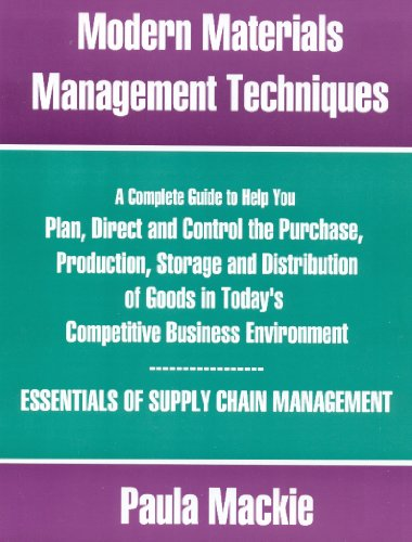 9781552702574: Modern Materials Management Techniques: SECOND EDITION