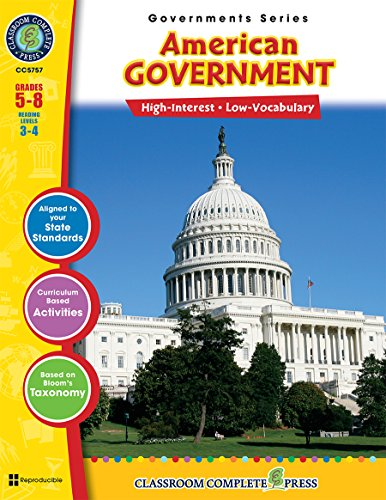 9781553193432: American Government Gr. 5-8 (North American Governments) - Classroom Complete Press