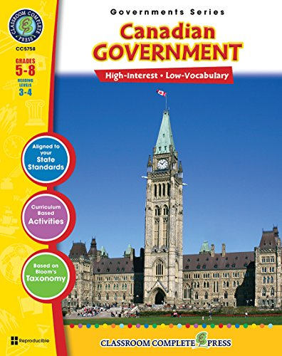 9781553193449: Canadian Government Gr. 5-8 (North American Governments) - Classroom Complete Press
